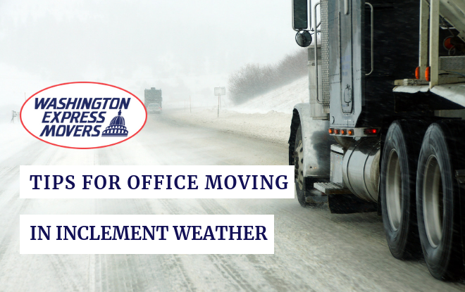 Tips for Office Moving in Inclement Weather